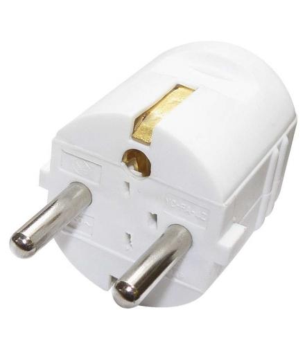 Wtyczka prosta biała EMOS P0034