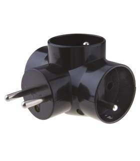 Rozgałęźnik 3x czarny EMOS P0030