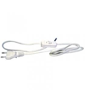 Przewód przyłączeniowy PVC 2×0,75mm z wyłącznikiem,3m biały EMOS S08273
