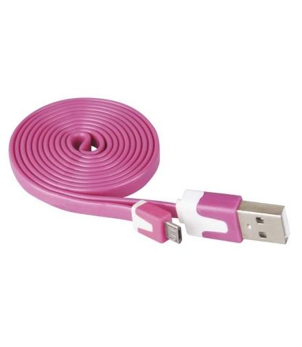 Przewód USB 2.0 wtyk A - wtyk micro B, 1m, różowy EMOS SM7001P