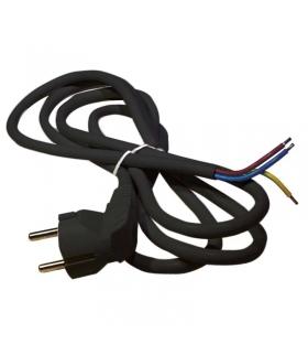 Przewód przyłączeniowy PVC 3×1,5mm, 3m czarny EMOS S18323