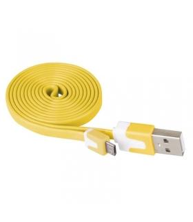 Przewód USB 2.0 wtyk A - wtyk micro B, 1m, żółty EMOS SM7001Y