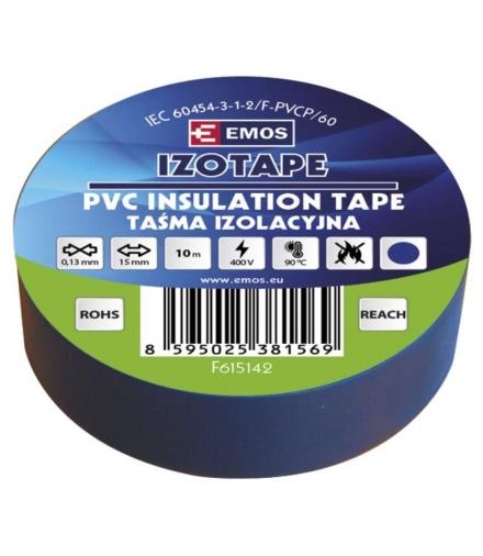 Taśma izolacyjna PVC 15mm / 10m niebieska EMOS F615142