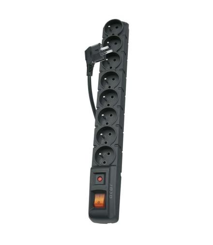 Listwa przeciwprzepięciowa Acar S8 1,5m czarny EMOS