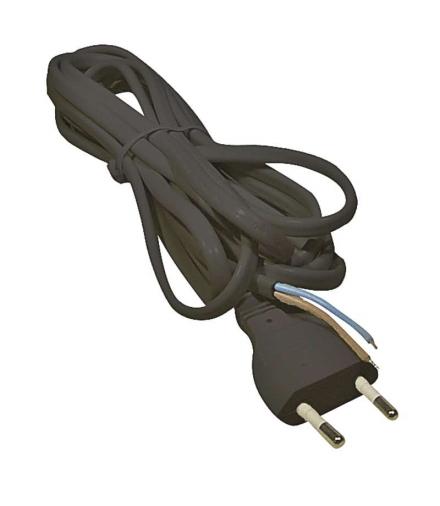 Przewód przyłączeniowy PVC 2×0,75mm, 5m czarny EMOS S19275