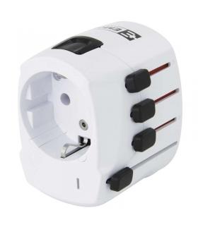 Adapter podróżny biały EMOS P0056
