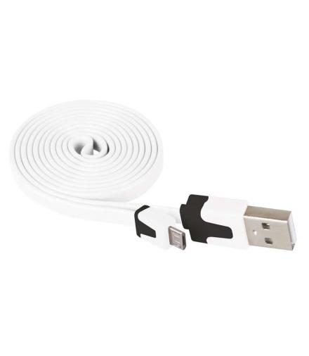 Przewód USB 2.0 wtyk A - wtyk micro B, 1m, biały EMOS SM7001W