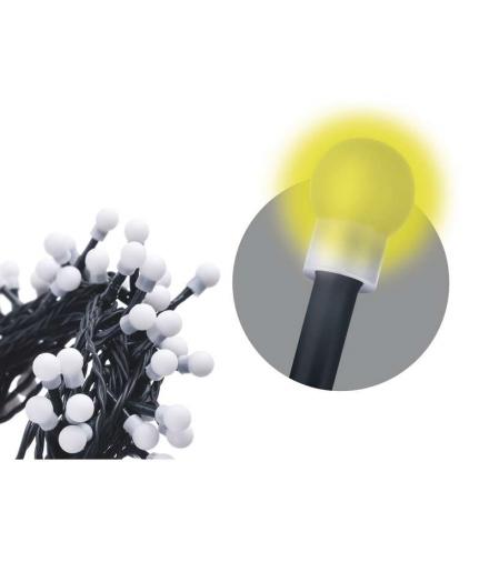 Lampki choinkowe 100 LED kulki 5m IP20 WW EMOS ZYK0205