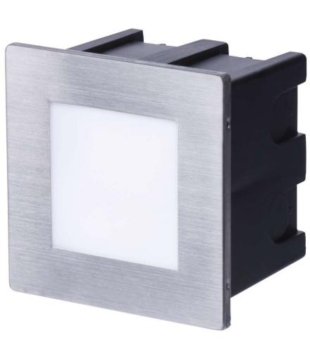 Orientacyjna oprawa LED, do wbudowania, kwadrat 1,5W WW IP65 EMOS ZC0109
