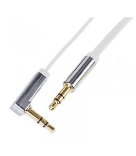 Przewód AV wtyk JACK 3,5mm - wtyk JACK 3,5mm, 1m, biały EMOS SM7031W