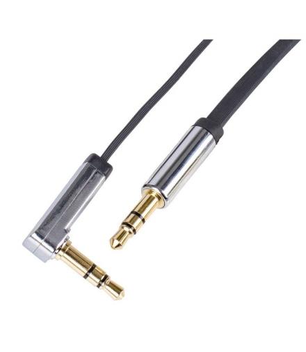 Przewód AV wtyk JACK 3,5mm - wtyk JACK 3,5mm, 1m, czarny EMOS SM7031BL