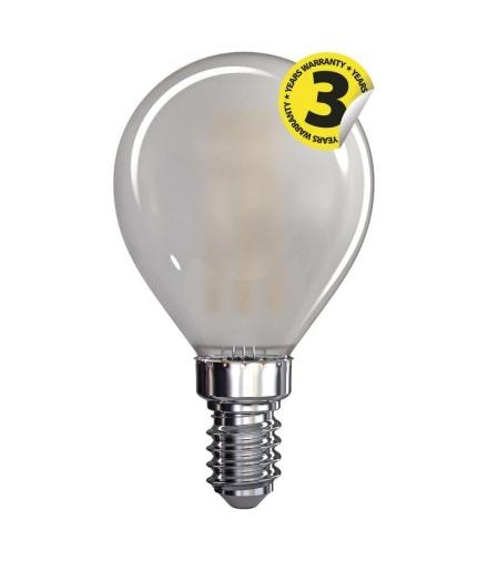 Żarówka LED Filament mini globe matowa 4W E14 ciepła biel EMOS Z74234