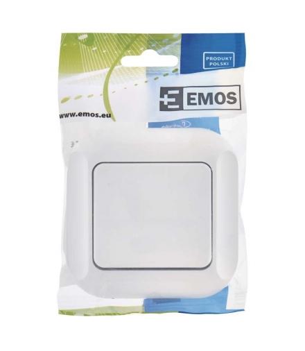 Wyłącznik dzwonkowy 1P biały EMOS A5330.0