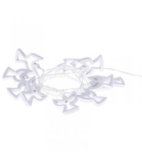 Dekoracje 10 LED 1,35m drewniane aniołki 2x AA WW, timer EMOS ZY1979