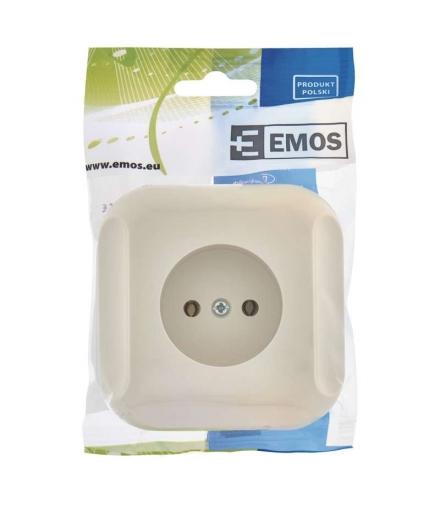 Gniazdo bez uziemienia beżowe EMOS A5411.1