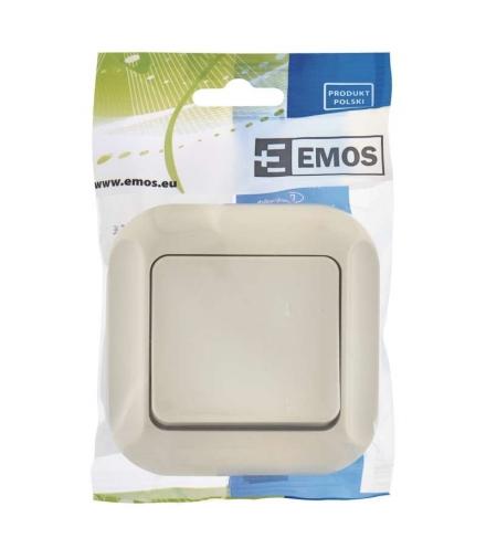 Wyłącznik dzwonkowy 1P beżowy EMOS A5330.1