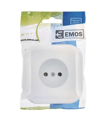 Gniazdo bez uziemienia białe EMOS A5411.0