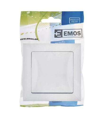 Wyłącznik dzwonkowy 1P Opal biały EMOS A5530.0