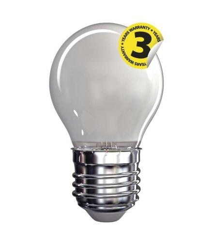 Żarówka LED Filament mini globe A++ mat. 4W E27 ciepła biel EMOS Z74244
