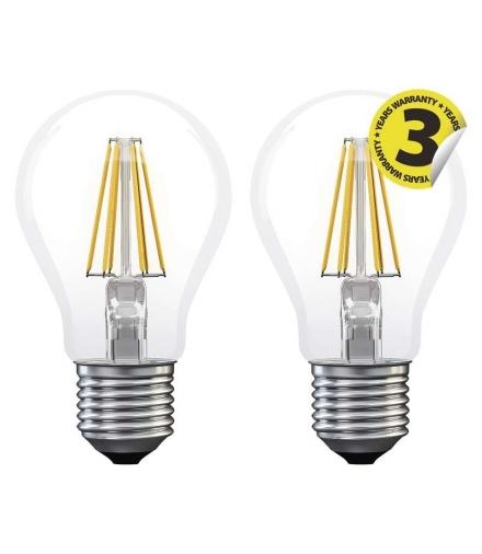 Żarówka LED Filament A60 6W E27 ciepła biel 2szt EMOS Z74260.2