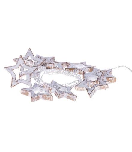 Dekoracje 10 LED 1,35m drewniane gwiazdki 3x AA WW, timer EMOS ZY1968