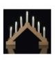 Świecznik 7 LED 2x AA drewno IP20 WW, timer EMOS ZY1953