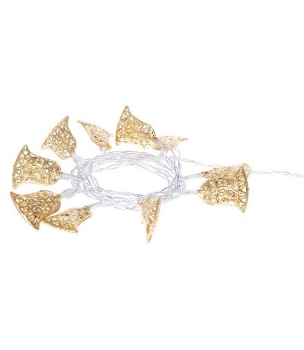 Dekoracje 10 LED 1,35m złote dzwonki 2x AA WW, timer EMOS ZY1970