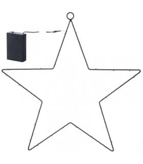 Dekoracje 30 LED metalowa gwiazda, 3x AA, WW, timer EMOS ZY1962