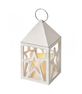 Lampion LED świeczka, gwiazdki 3x AAA, WW, timer EMOS ZY1956