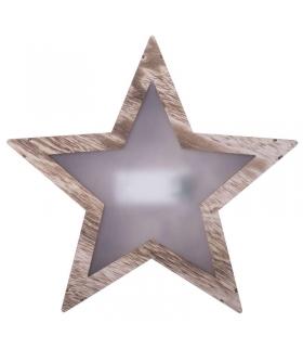 Dekoracje 10 LED drewniana gwiazda 3D 2x AA WW EMOS ZY1967