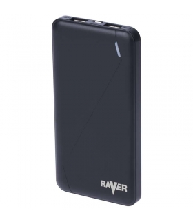Power bank RAVER 10000mAh czarny EMOS B0512