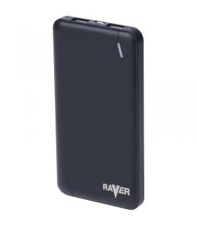 Power bank RAVER 10000mAh czarny EMOS B0512