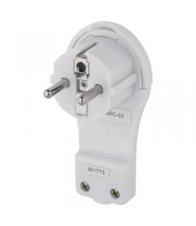 Wtyczka kątowa ultra płaska biała EMOS P0066