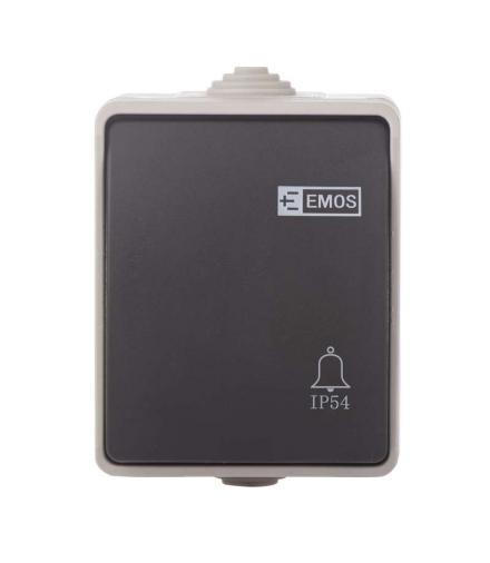 Przycisk dzwonkowy (1/0) IP54 EMOS A1399