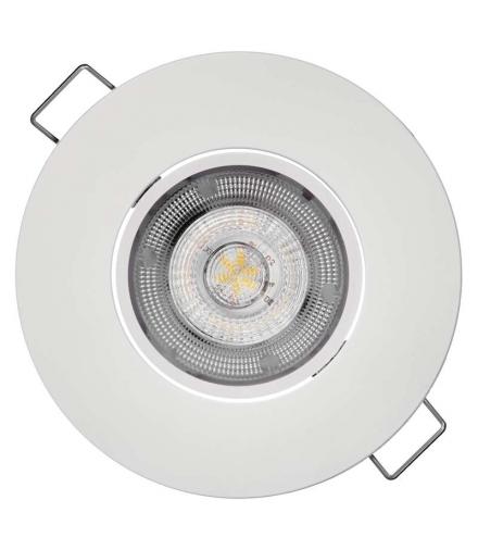 Oczko LED Exclusive 5W ciepła biel, biały EMOS ZD3121