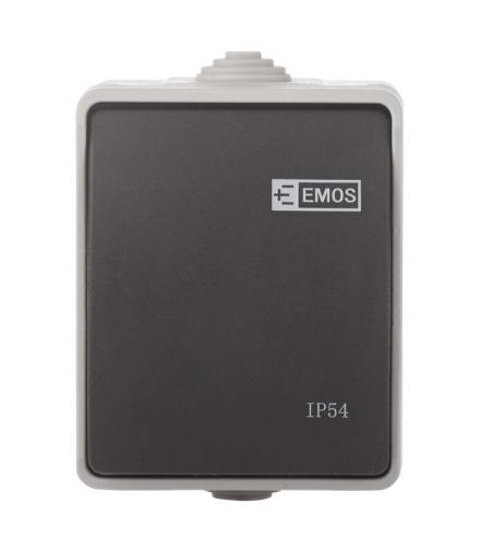 Wyłącznik natynkowy 1P IP54 EMOS A1398.2