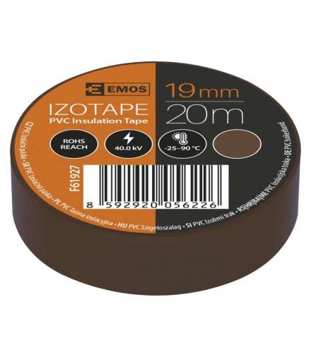 Taśma izolacyjna PVC 19mm / 20m brązowa EMOS F61927