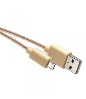 Przewód USB 2.0 wtyk A -wtyk micro B, 1m żółty EMOS SM7006Y