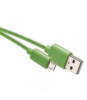 Przewód USB 2.0 wtyk A -wtyk micro B,1m zielony EMOS SM7006G