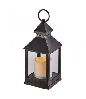 Lampion LED świeczka CZARNY 24cm 3x AAA, VNT, timer EMOS ZY2115