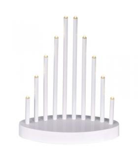 Świecznik 10 LED 3x AA biały IP20 WW, timer EMOS ZY2107