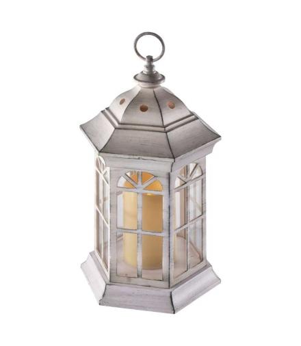 Lampion LED świeczka BIAŁY 37cm 3x AAA, VNT, timer EMOS ZY2116