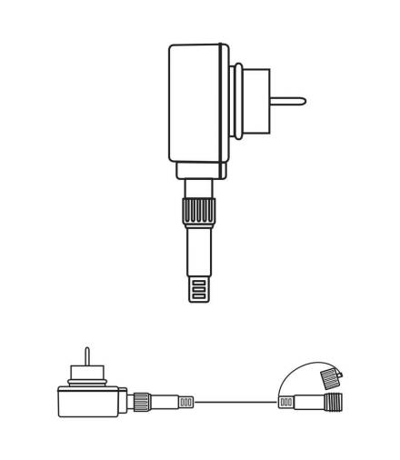 Oświetlenie świąteczne łączone - zasilacz 5m IP44 / biały EMOS ZY2154