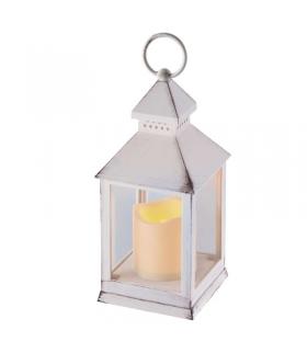 Lampion LED świeczka BIAŁY 24cm 3x AAA, VNT, timer EMOS ZY2114