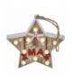 Dekoracje 10 LED drewniana gwiazda 22cm 2x AAA WW, timer EMOS ZY2079