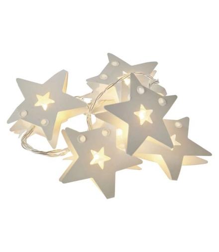 Dekoracje 10 LED 0,9m papierowe gwiazdki 2x AA WW, timer EMOS ZY2075