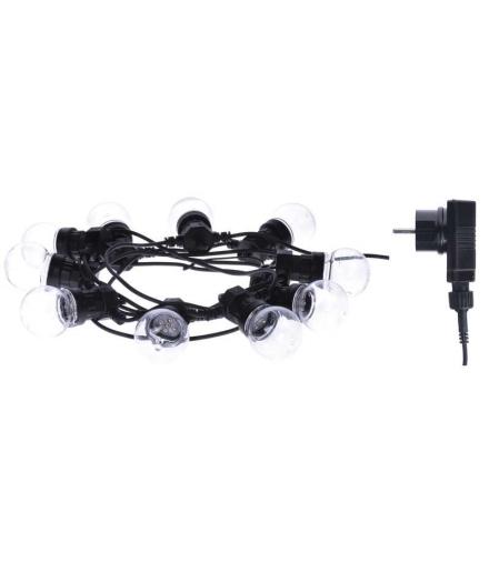 Łańcuch z żarówek 10x 5 LED, przeźroczyste, 5m, IP44, WW EMOS ZY2053