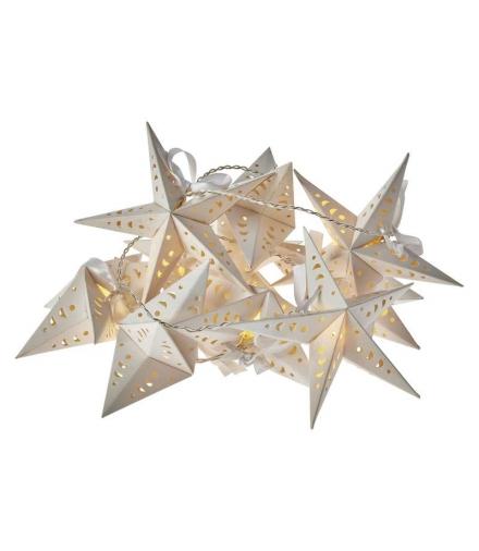 Dekoracje 10 LED 1,35m metalowe gwiazdki 2x AA WW, timer EMOS ZY2064