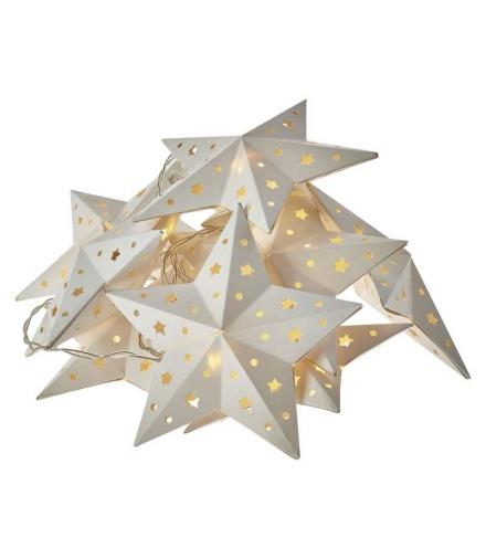 Dekoracje 10 LED 1,35m papierowe gwiazdki 2x AA WW, timer EMOS ZY2077