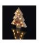 Dekoracje 10 LED drewniana choinka 22cm 2x AAA WW, timer EMOS ZY2078